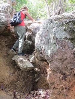 Pittige klim bij de Christoffelberg