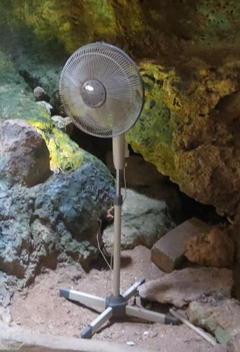 Ventilator in de Grotten van Hato